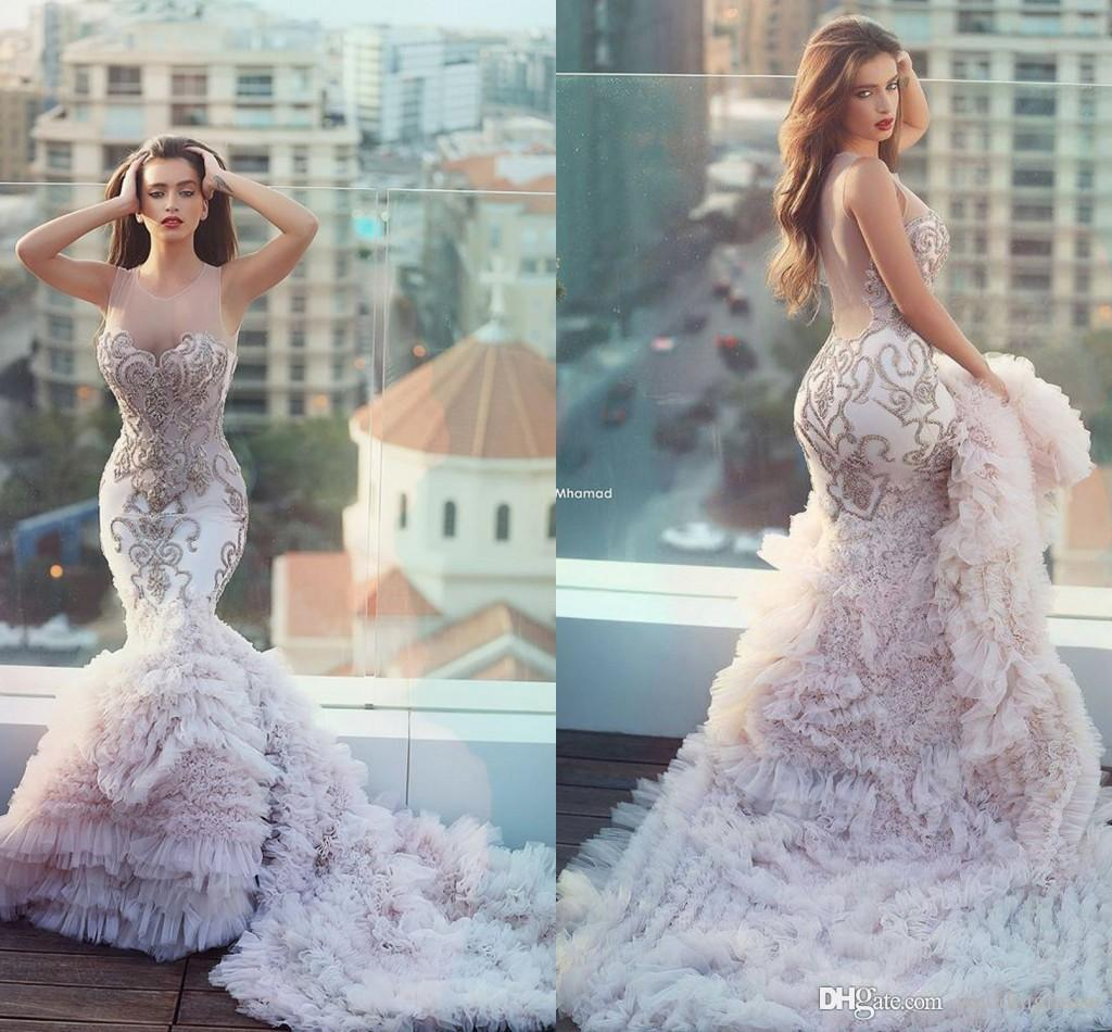 21 unique wedding dresses ideas for brides who dont want to unique blush mermaid wedding gown ombrellifo Image collections