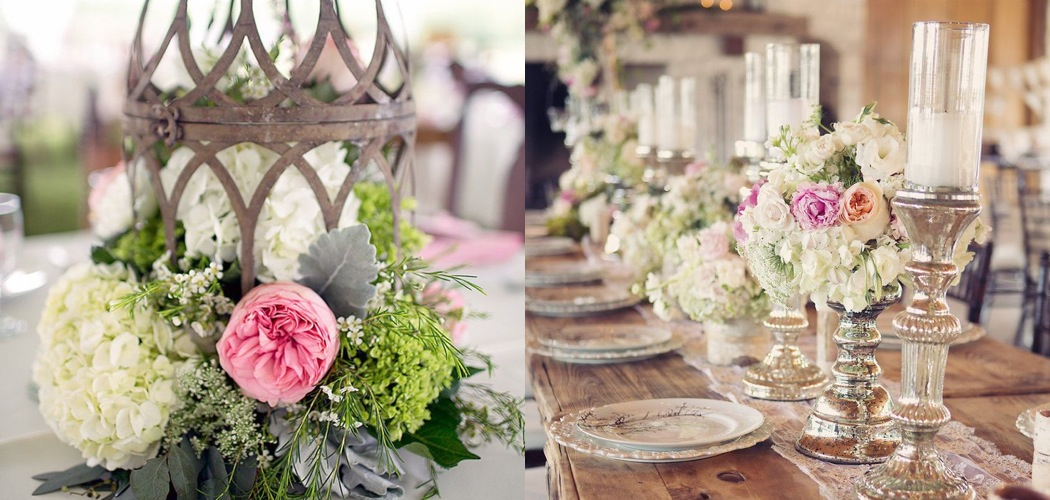 Vintage Table Centerpieces