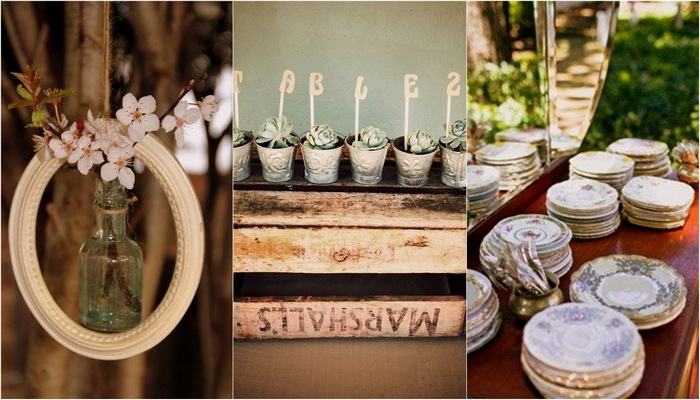 Vintage wedding inspiration ideas of the key wedding elements the vintage wedding decorations junglespirit Images