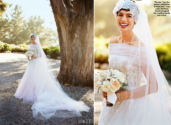 Anne Hathaway's wedding dress