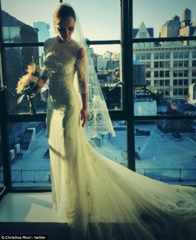 Christina Ricci's wedding dress