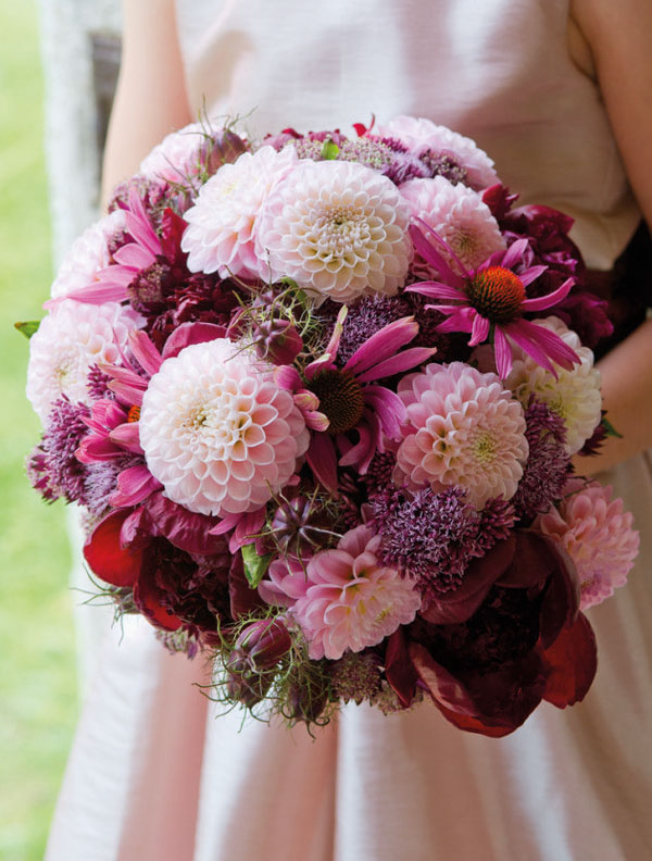 Chrysanthemums wedding bouquet