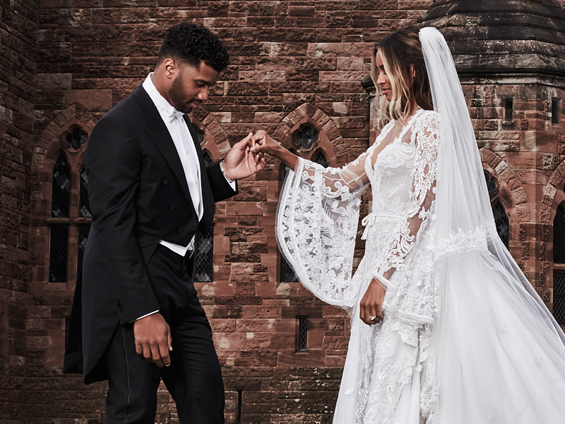 Ciara's wedding gown
