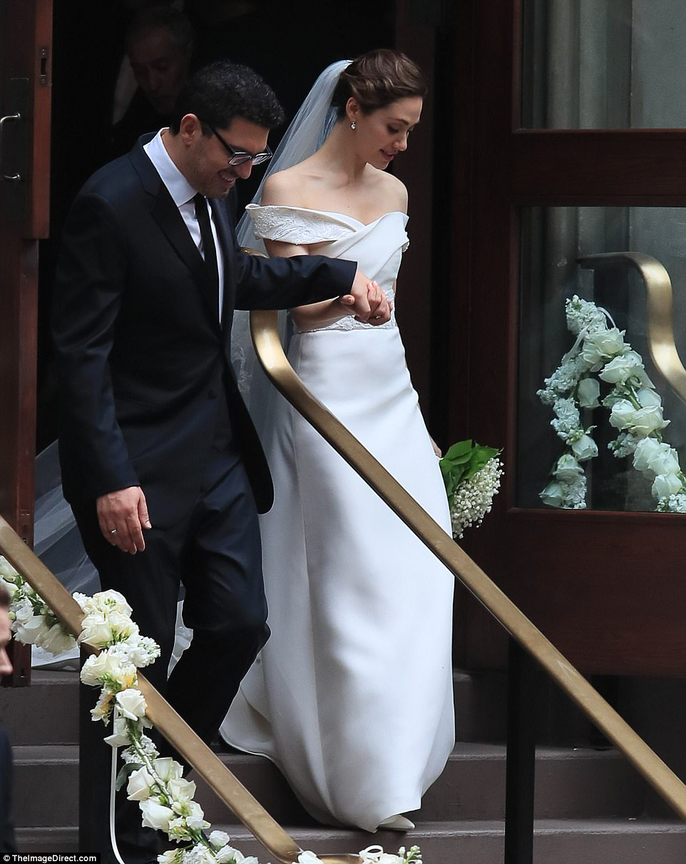 Emmy Rossum's wedding gown