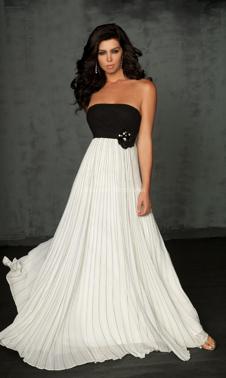 Empire waist strapless wedding gown