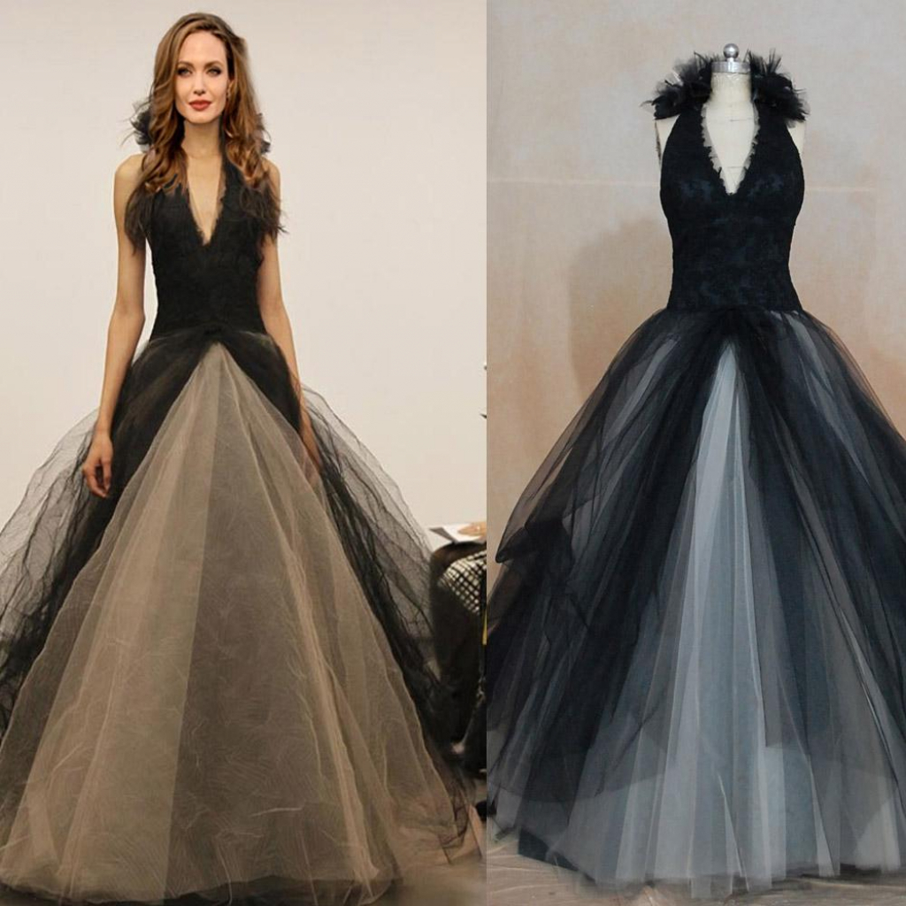 Gothic tulle wedding dress
