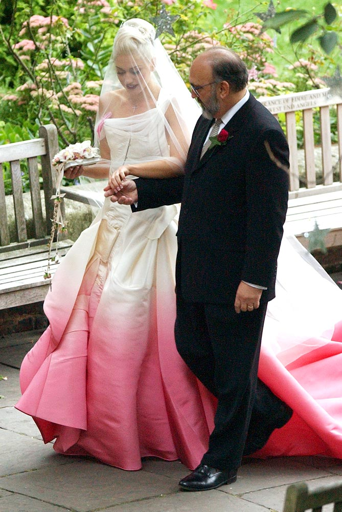 Gwen Stefani's wedding ombre dress