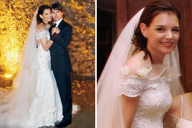 Wedding dress of Katie Holmes