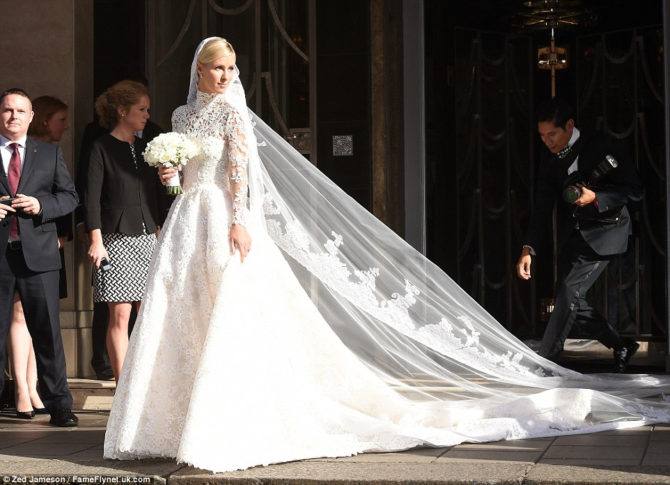 Nicky Hilton's wedding gown