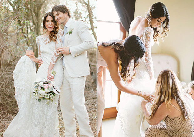 Nikki Reed's wedding dress