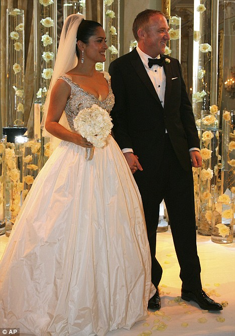 Salma Hayek's wedding dress