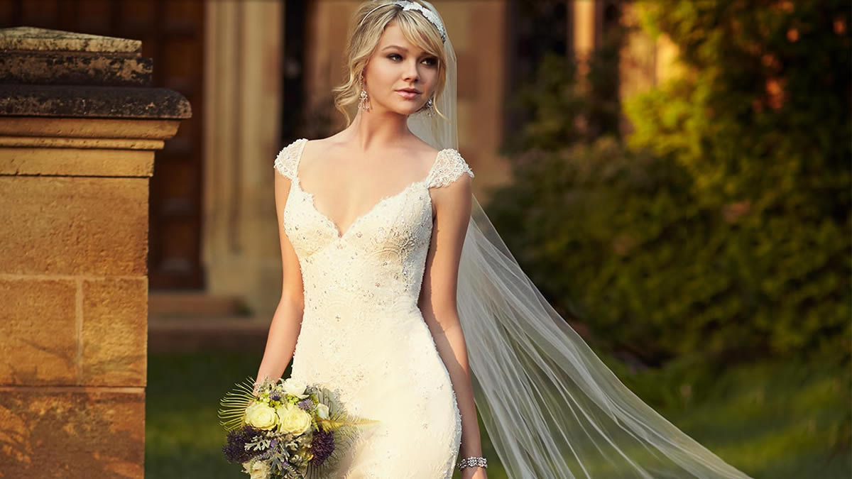 A wedding dress