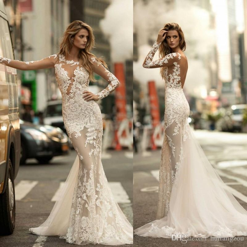 Illusion mermaid wedding dress by Berta