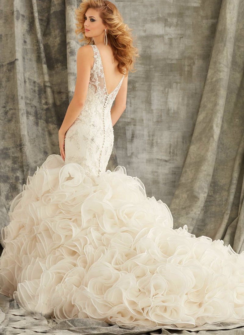 35 fantastic ideas of mermaid wedding dresses you won t be for Wedding dresses with ruffles