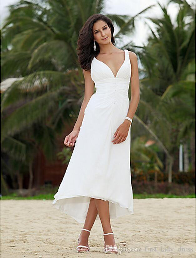 Tips On Choosing Beach Wedding Dresses For Destination Weddings - Mid Length Wedding Dresses