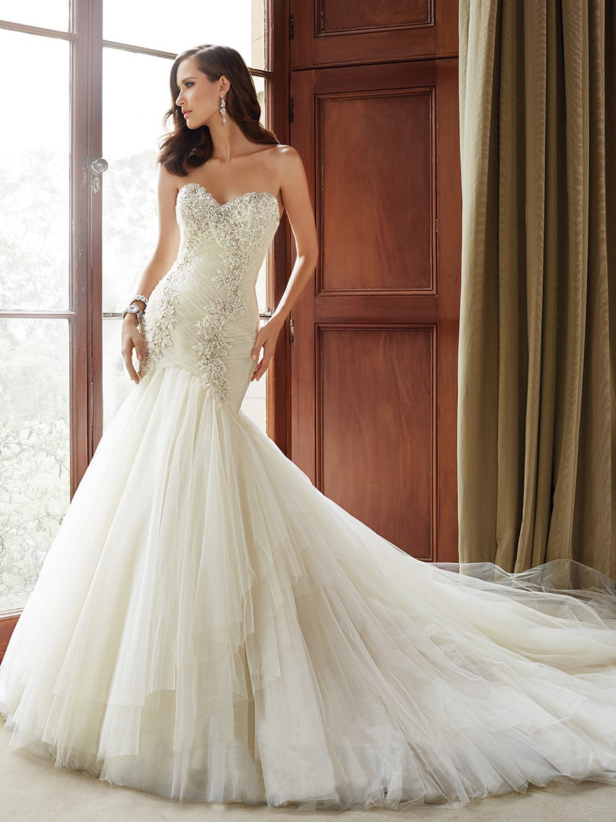 Sophia Tolli dress with embellished sweetheart bodice