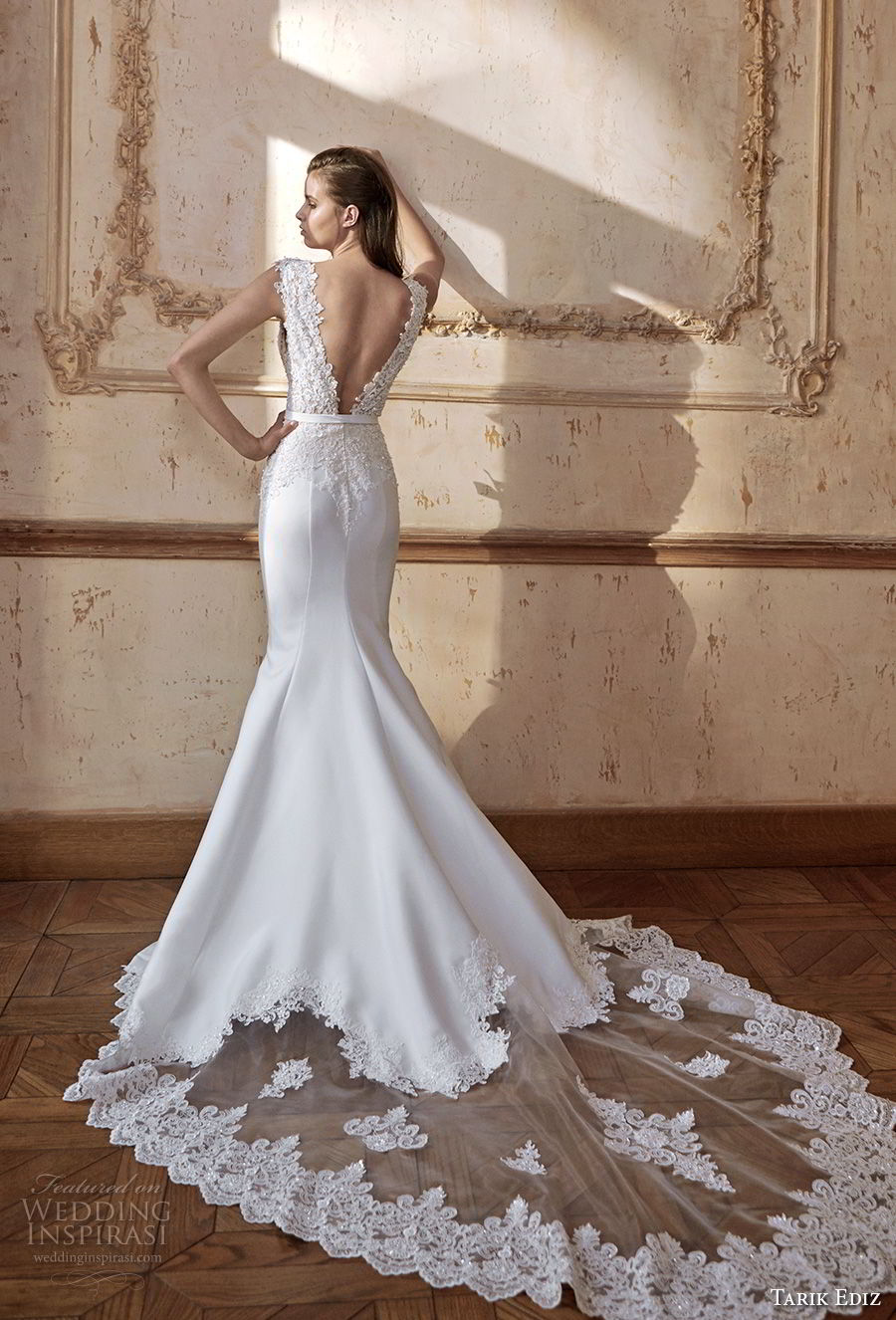 Tarik Ediz wedding dress with open back