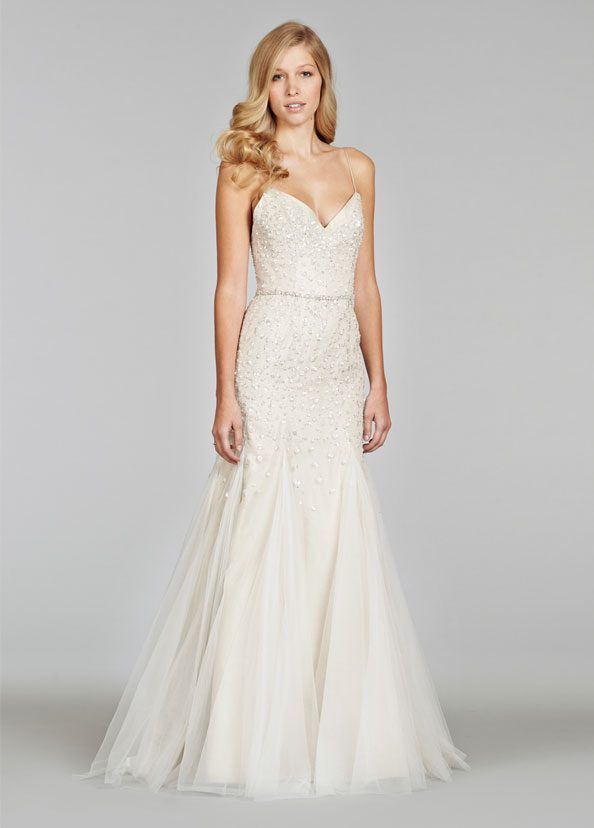 Wedding Dress Embellished With Sequins