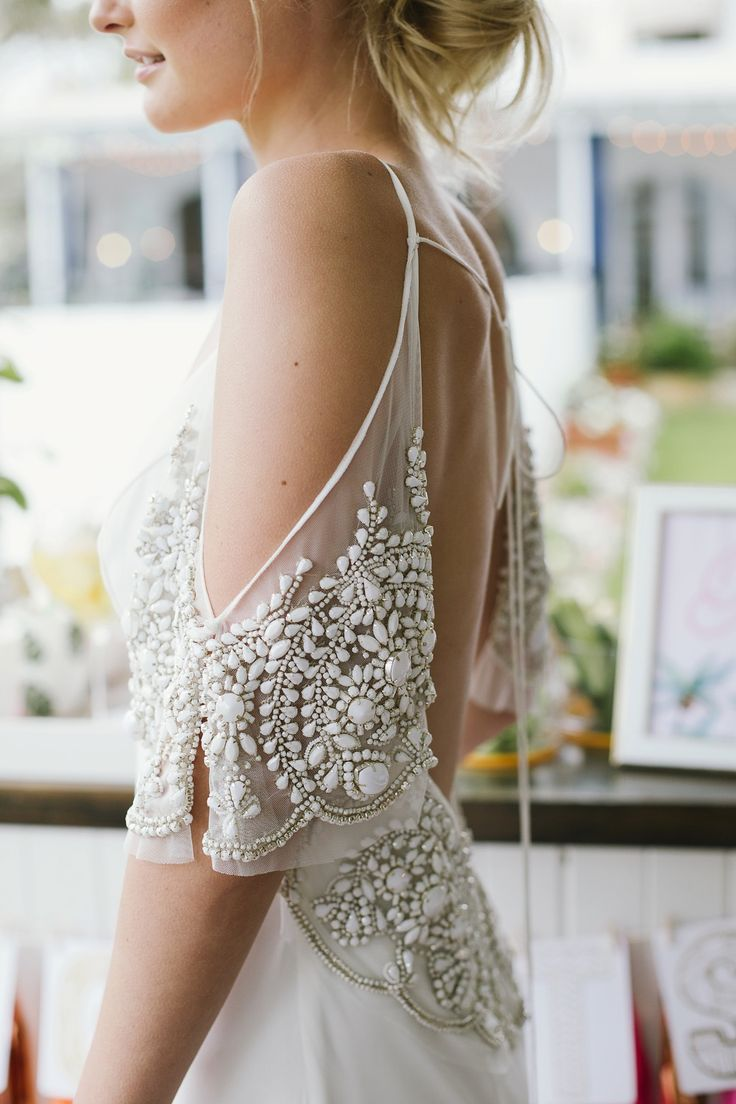 How to embellish simple wedding dresses the best for Wedding dress beading patterns