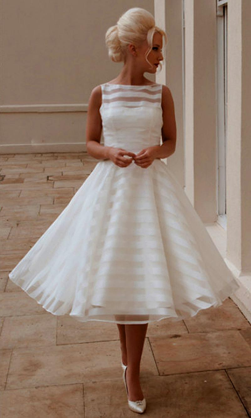 27 Inspiring Ideas Of Tea Length Wedding Dresses The
