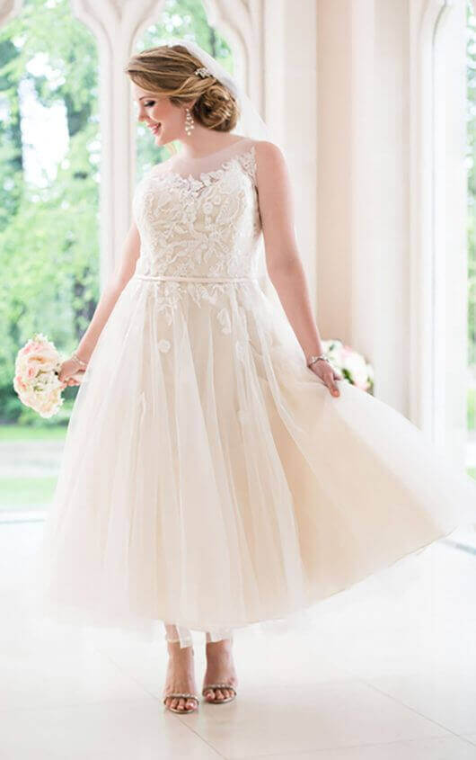 27 inspiring ideas of tea length wedding dresses the for Alternative plus size wedding dresses