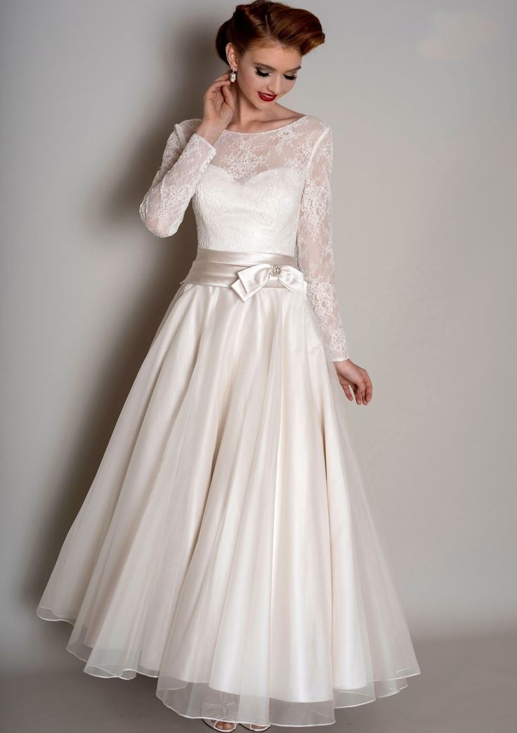 Length tea Vintage wedding dresses