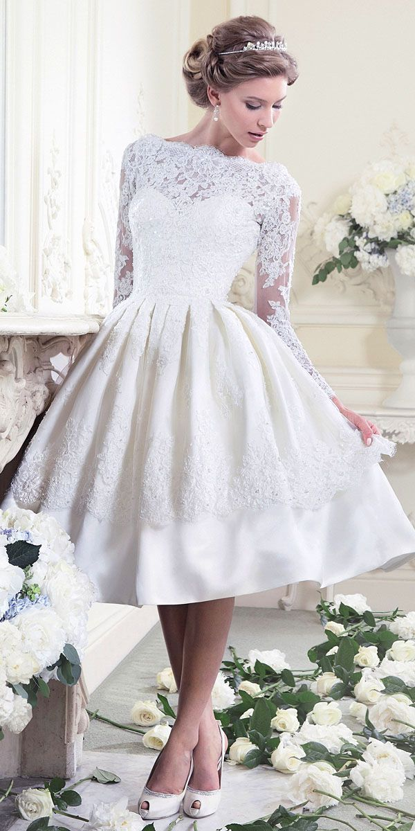 27 Inspiring Ideas Of Tea Length Wedding Dresses The Best