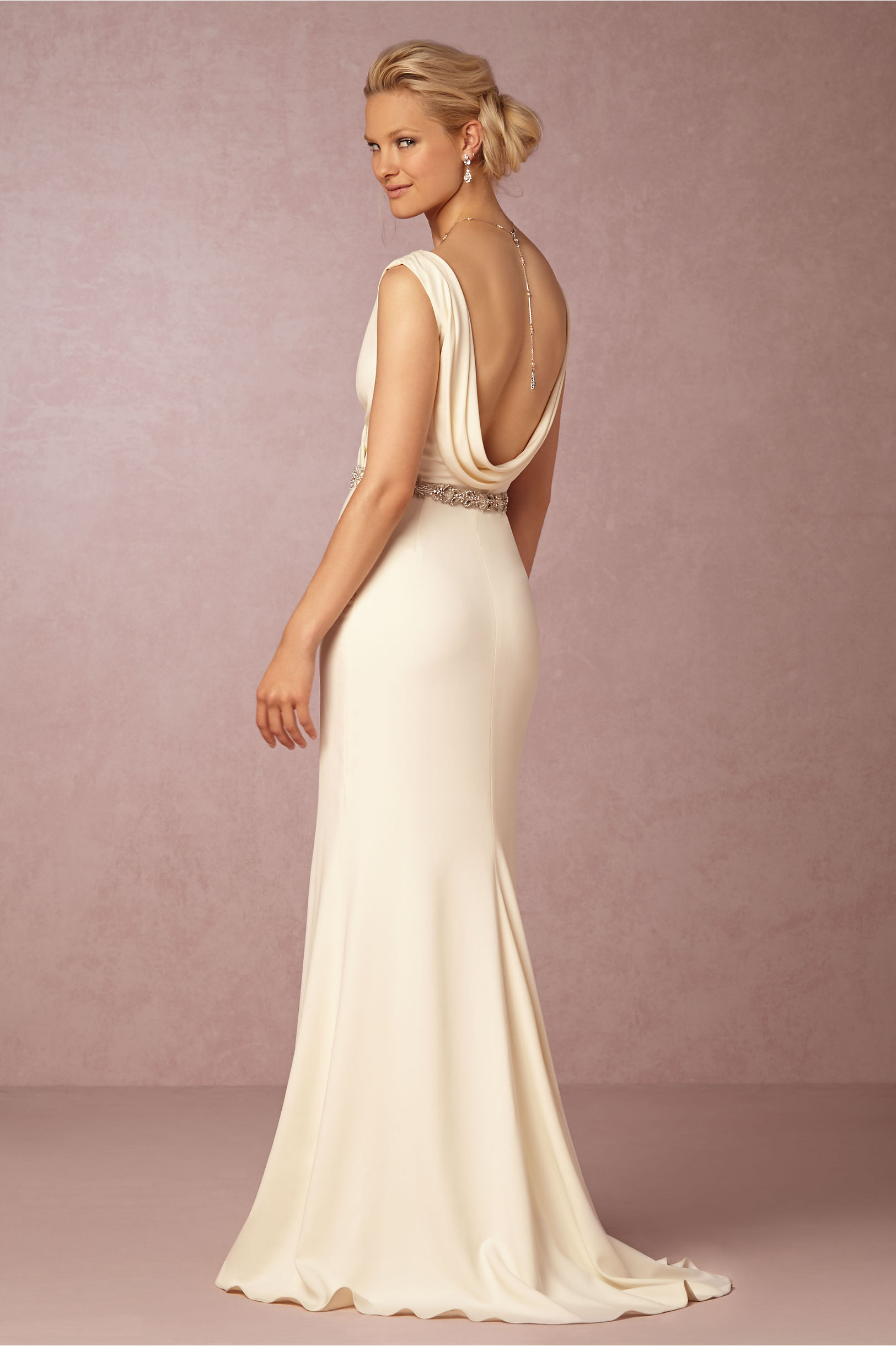 Casual Wedding Dress With Open Back