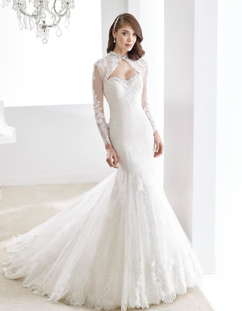 Wedding Dress with Keyhole Neckline