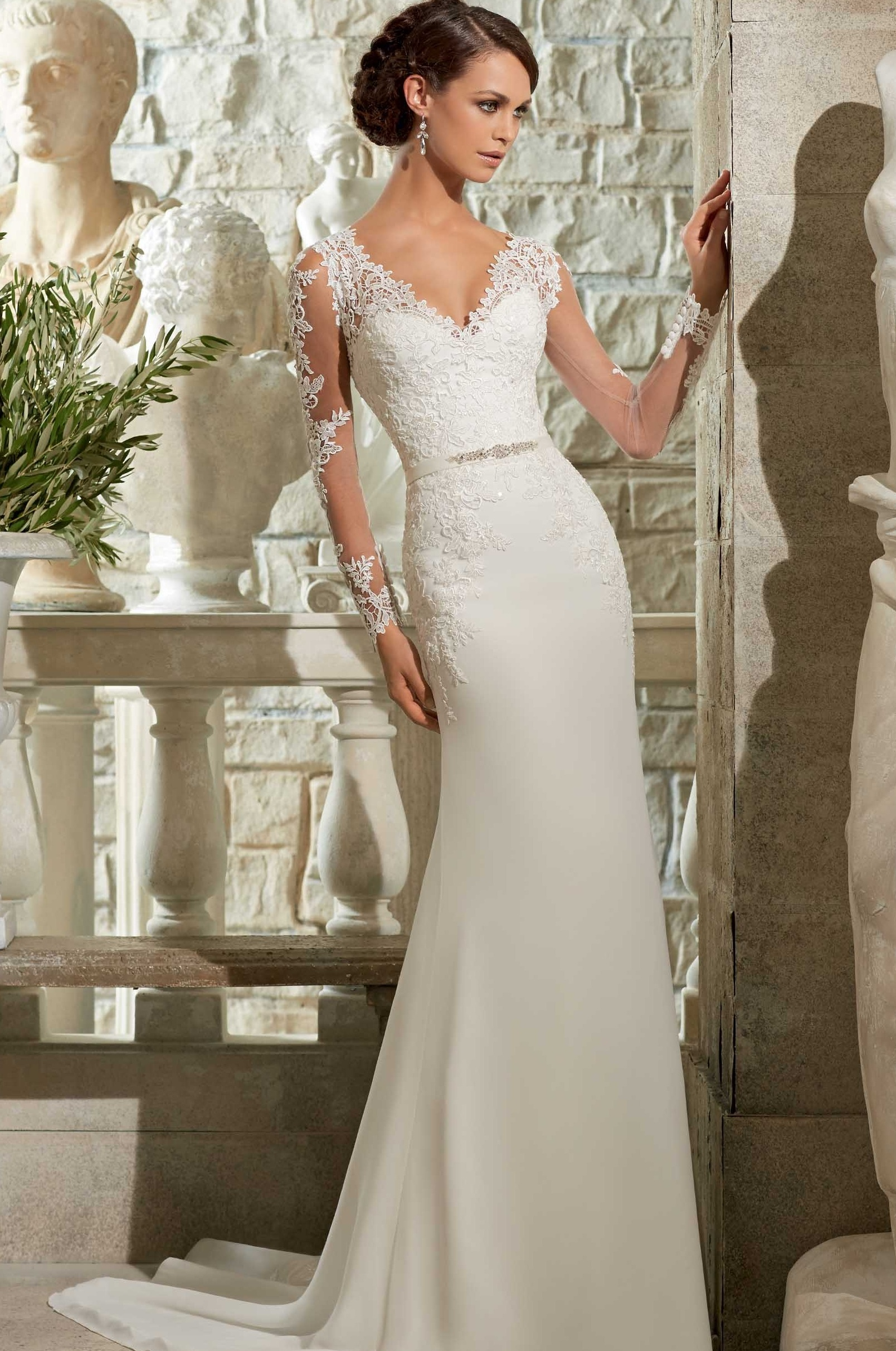 v neck wedding dress 9 types of necklines which look the best with sleeve 8220