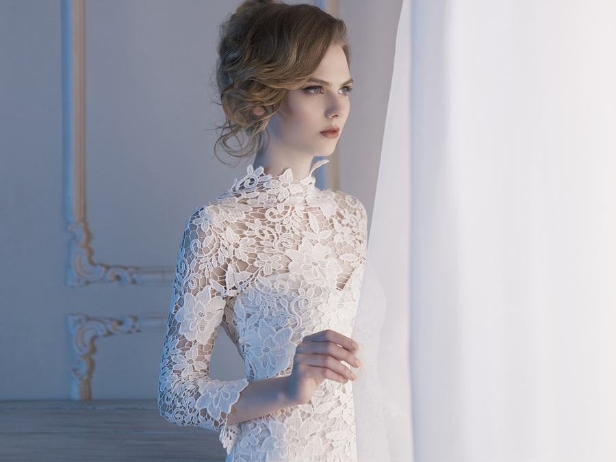 Wedding Gowns With Lace Sleeves 016 - Wedding Gowns With Lace Sleeves