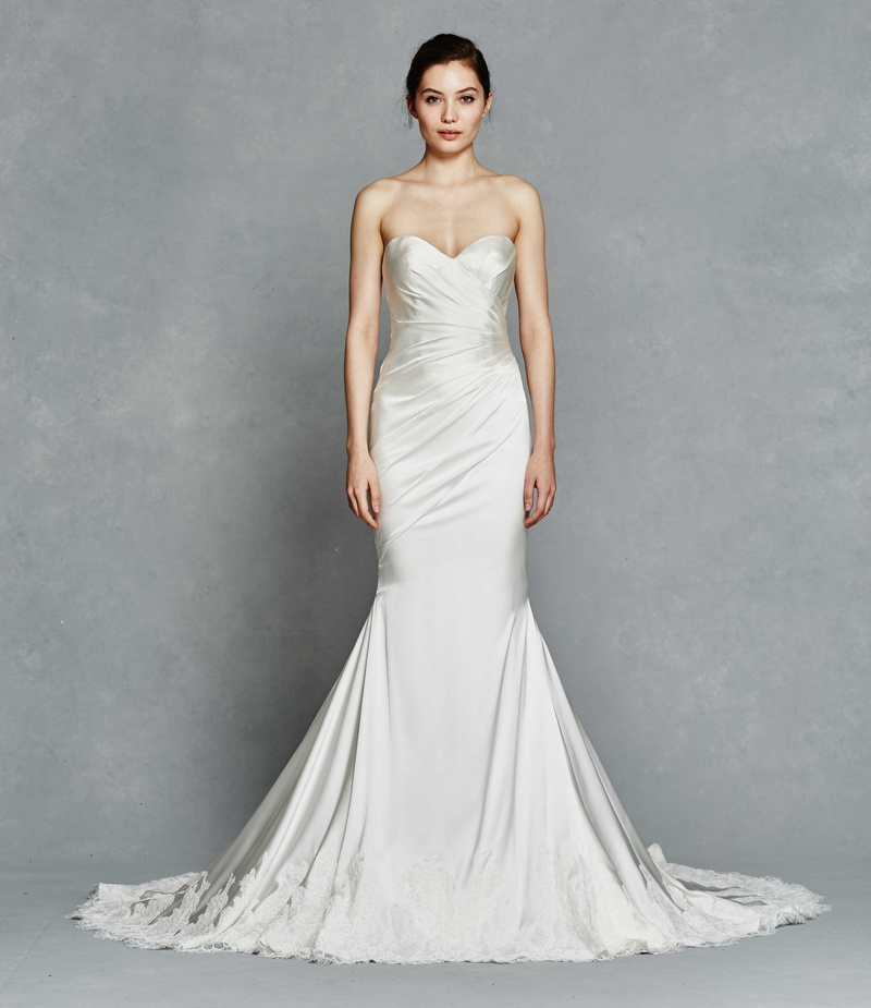 Wedding Dress with Lace Hem