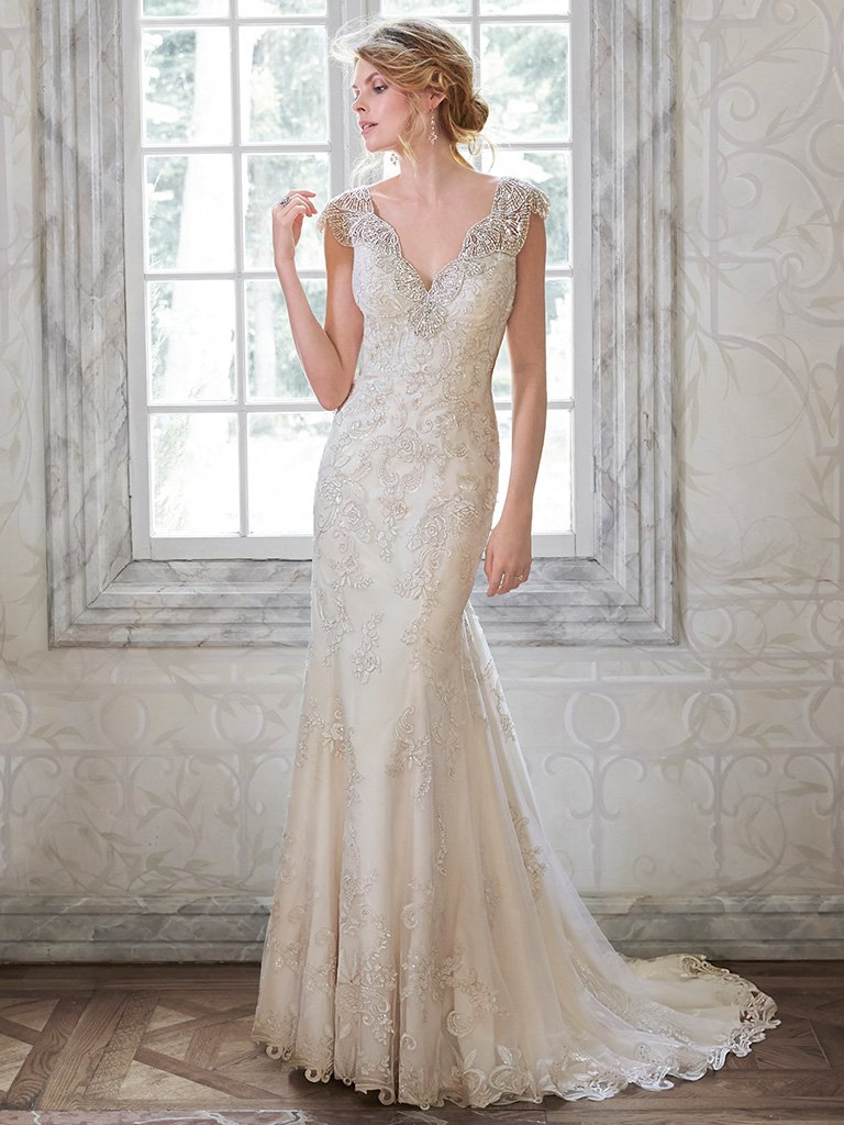 Embellished Lace Wedding Dress