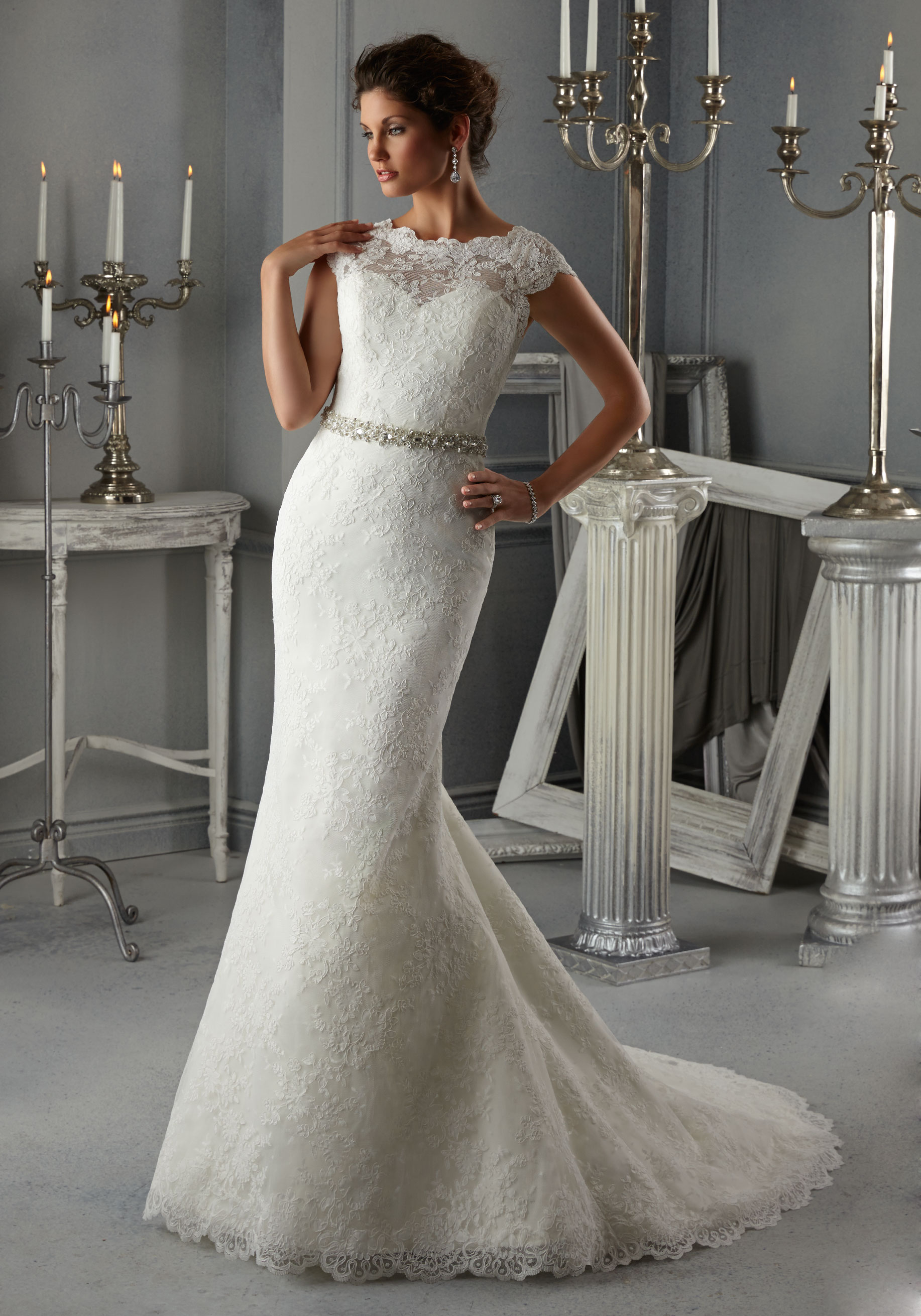 Allover Lace Wedding Dress