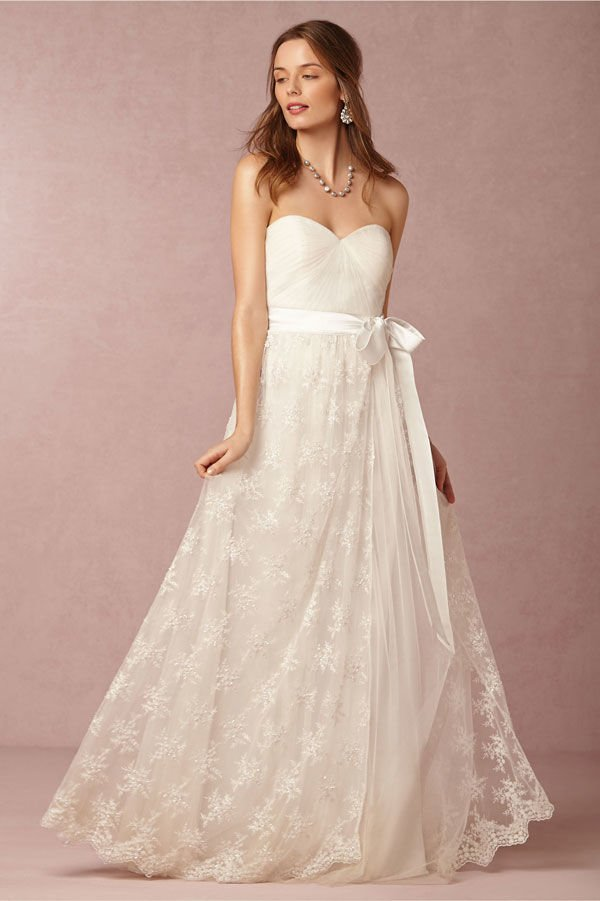 Wedding Dress with Lace Skirt
