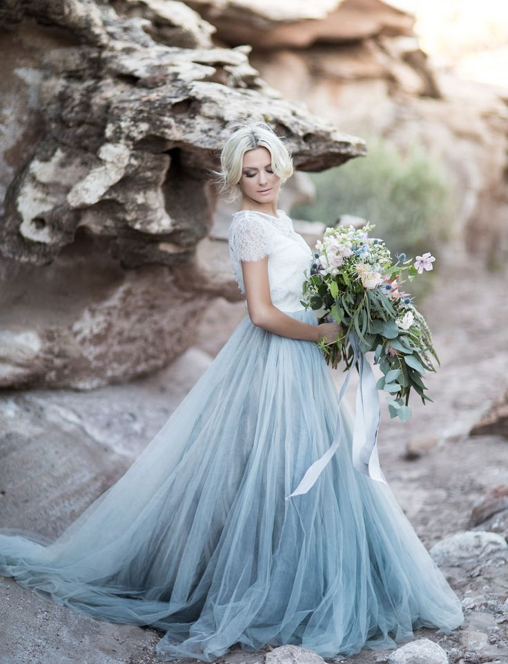 Gray Ombre Wedding Dress