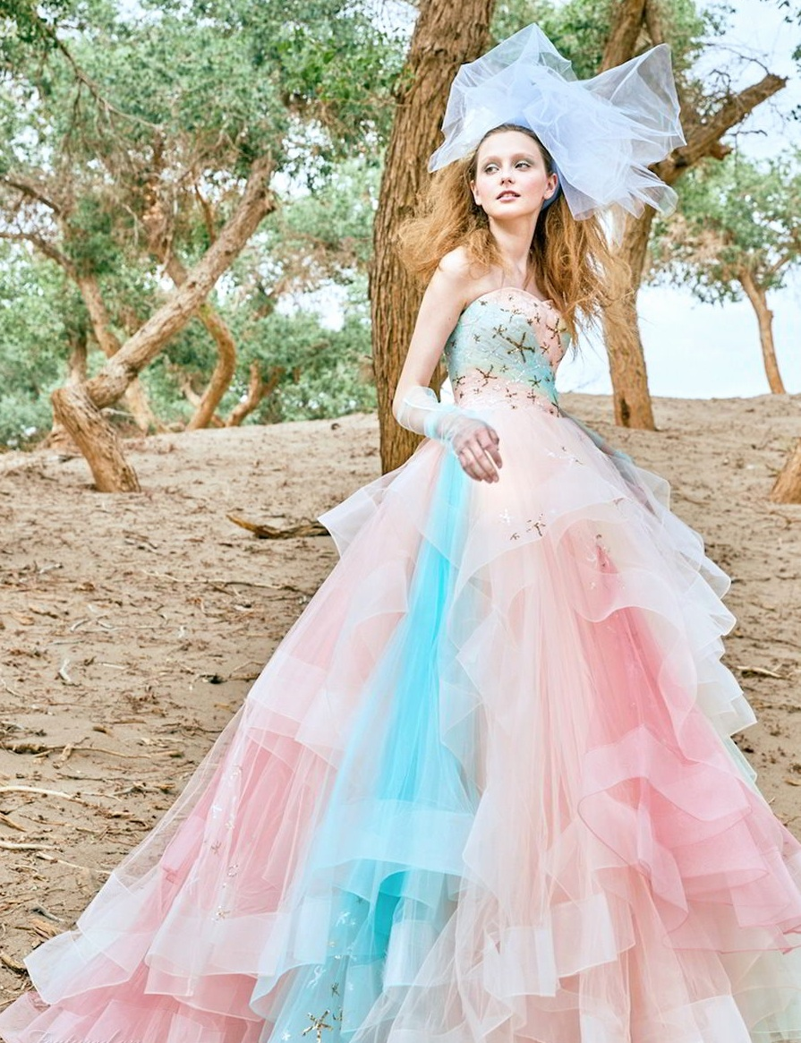10 Cool Ideas Of Colorful Bridal Dresses For Wedding And