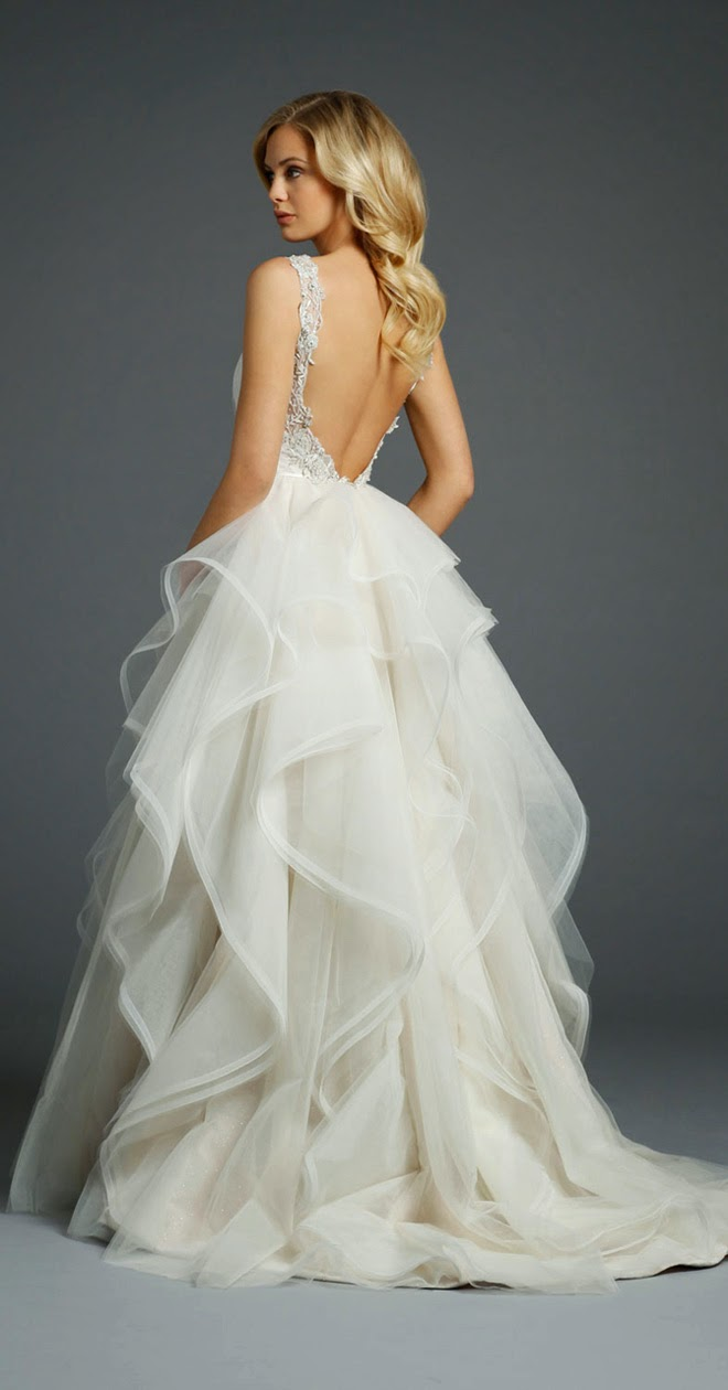 Open back wedding dress