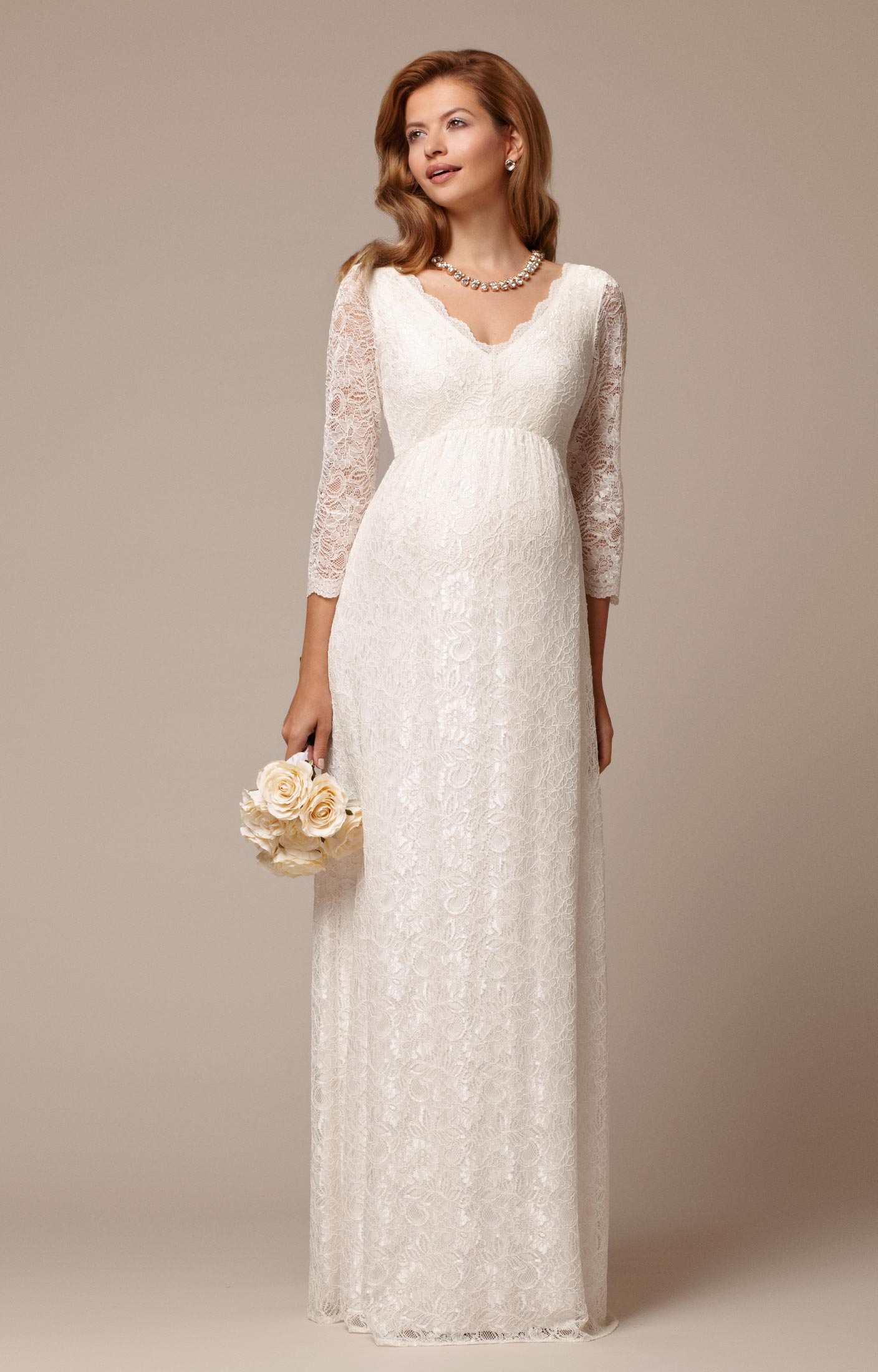 Lace Maternity Wedding Dress