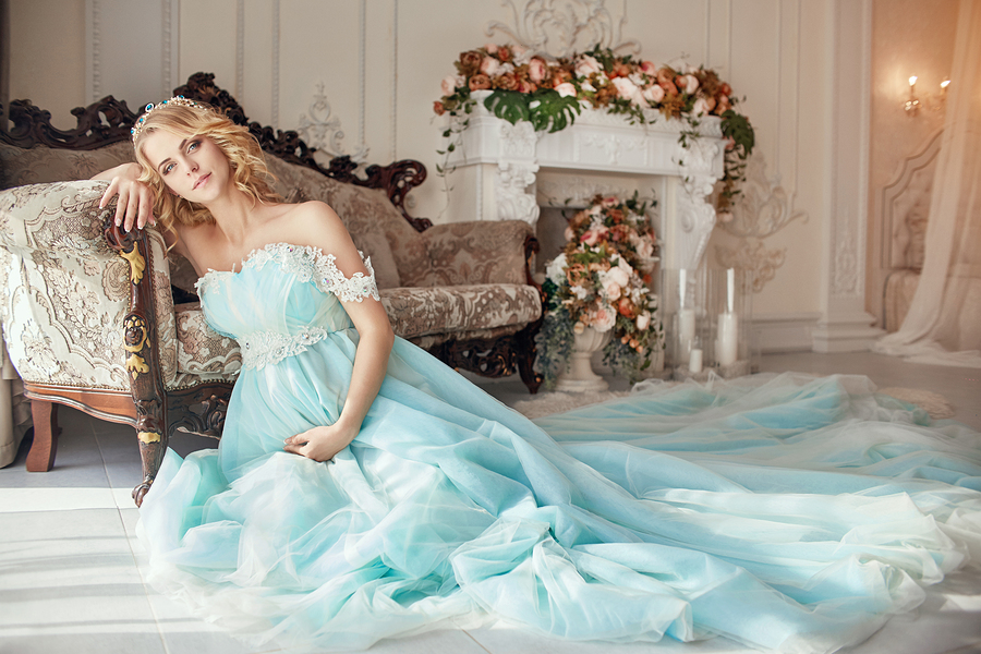 Colored Maternity Wedding Dress