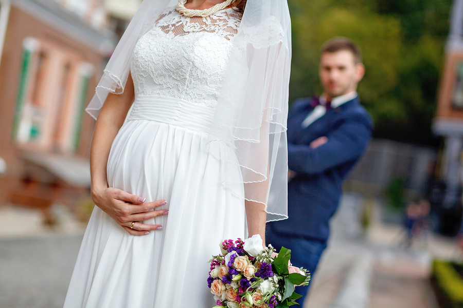 Empire Waist Maternity Wedding Dress