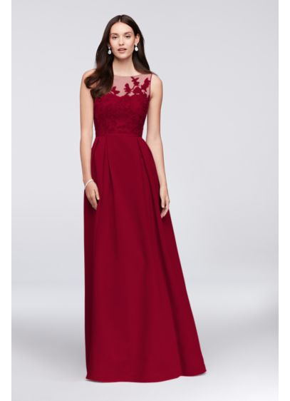 Apple red dress by Oleg Cassini