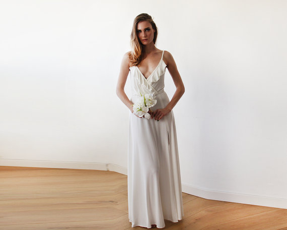 Simple wedding dress by Blushfashion