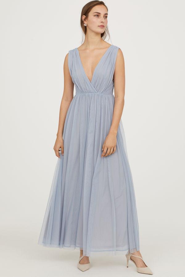 H & M long mesh dress