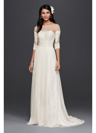 DB Galina wedding dress with sleeves