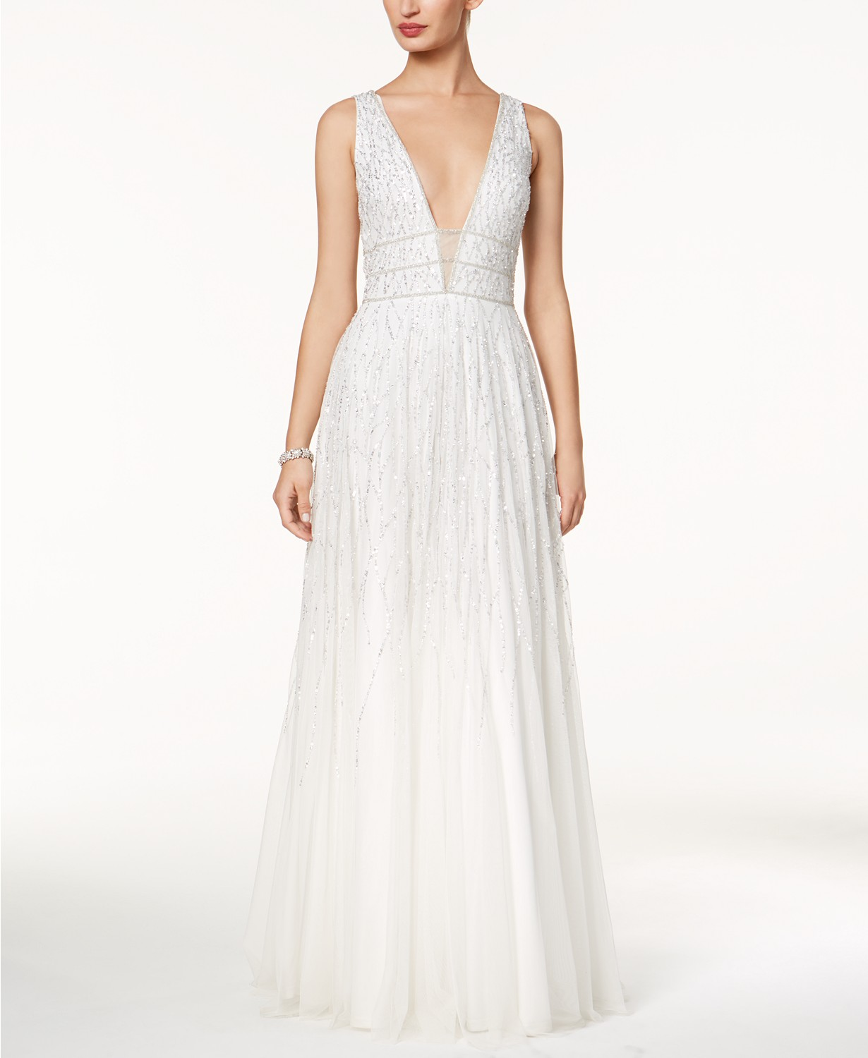 Adrianna Papell beaded wedding dress
