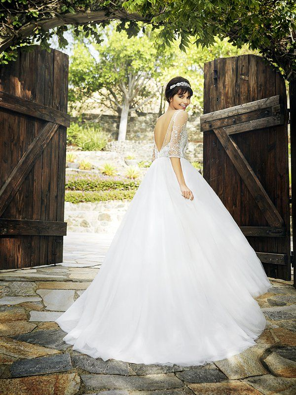 Low back wedding dress by Moonlight Bridal