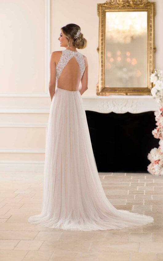 Boho open back wedding dress by Stella York
