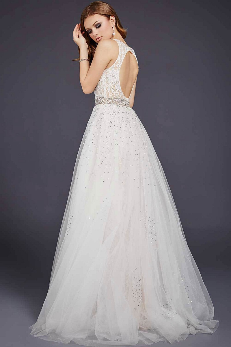 Jovani wedding dress with detachable skirt