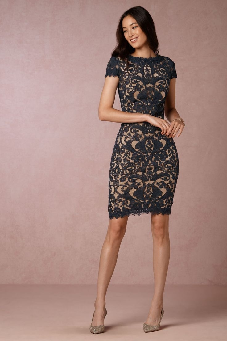 Short lace wedding guest dress